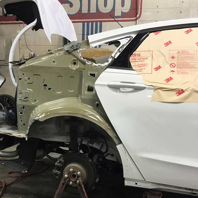 Car Back Quarter Panel Repair