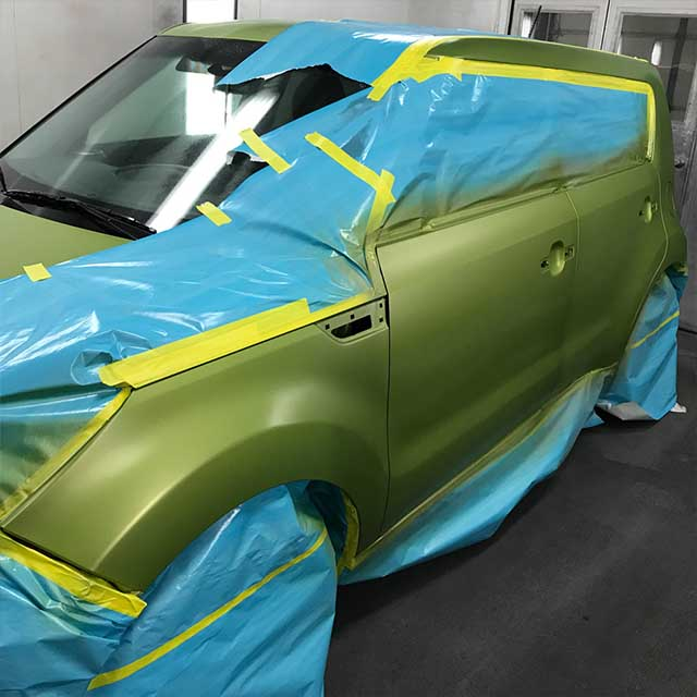 Auto Paint Green Car